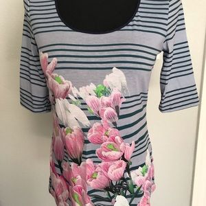NWT Anthropologie daily dream floral comfy tee